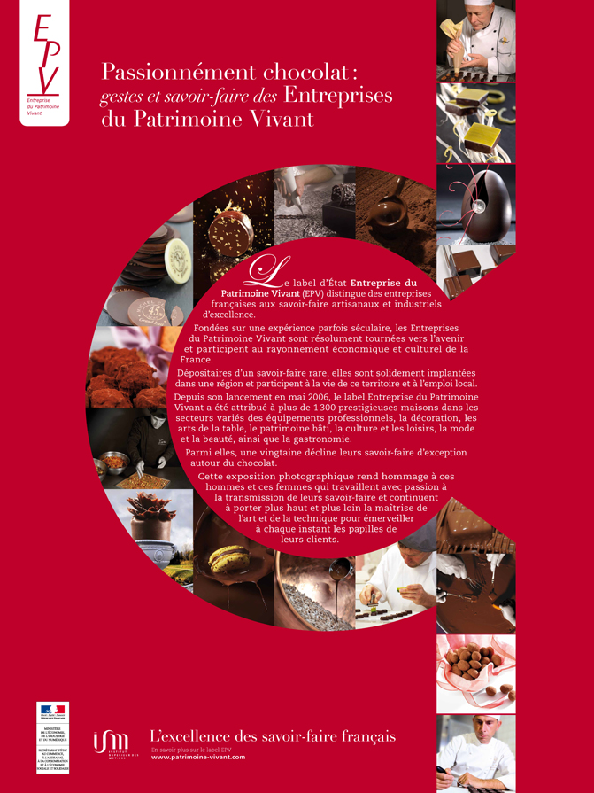 Passionnément chocolat :  gestes et savoir-faire du Patrimoine Vivant