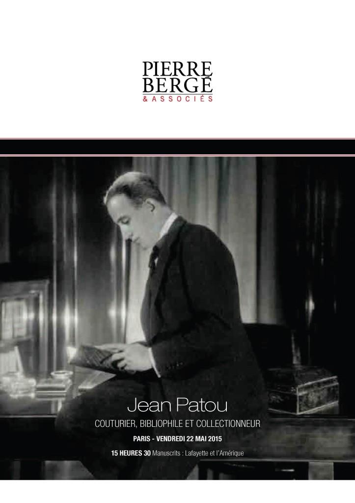 Vente Jean Patou, couturier, parfumeur et bibliophile, le 22 mai 2015 à Drouot
