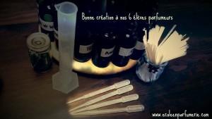les outils des apprentis parfumeurs