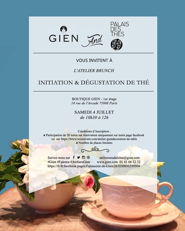 Initiation et dégustation Palais des Thés chez Gien à Paris