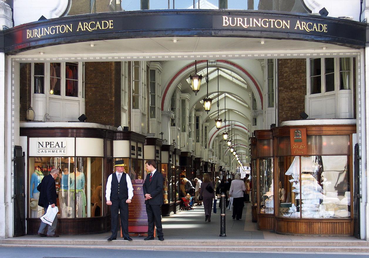 Burlington Arcade (Londres) se met au parfum !