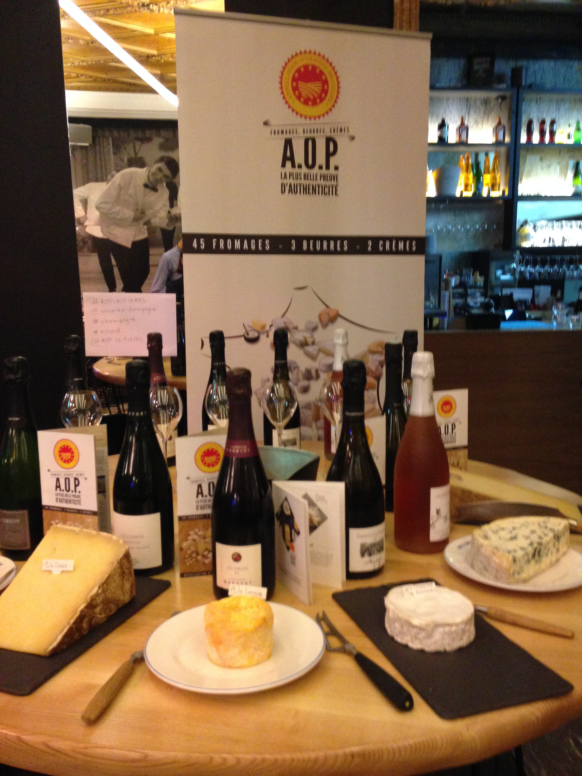 Accords fromages AOP et champagnes