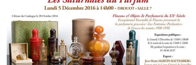La prochaine vente de flacons de parfum, le 5 décembre