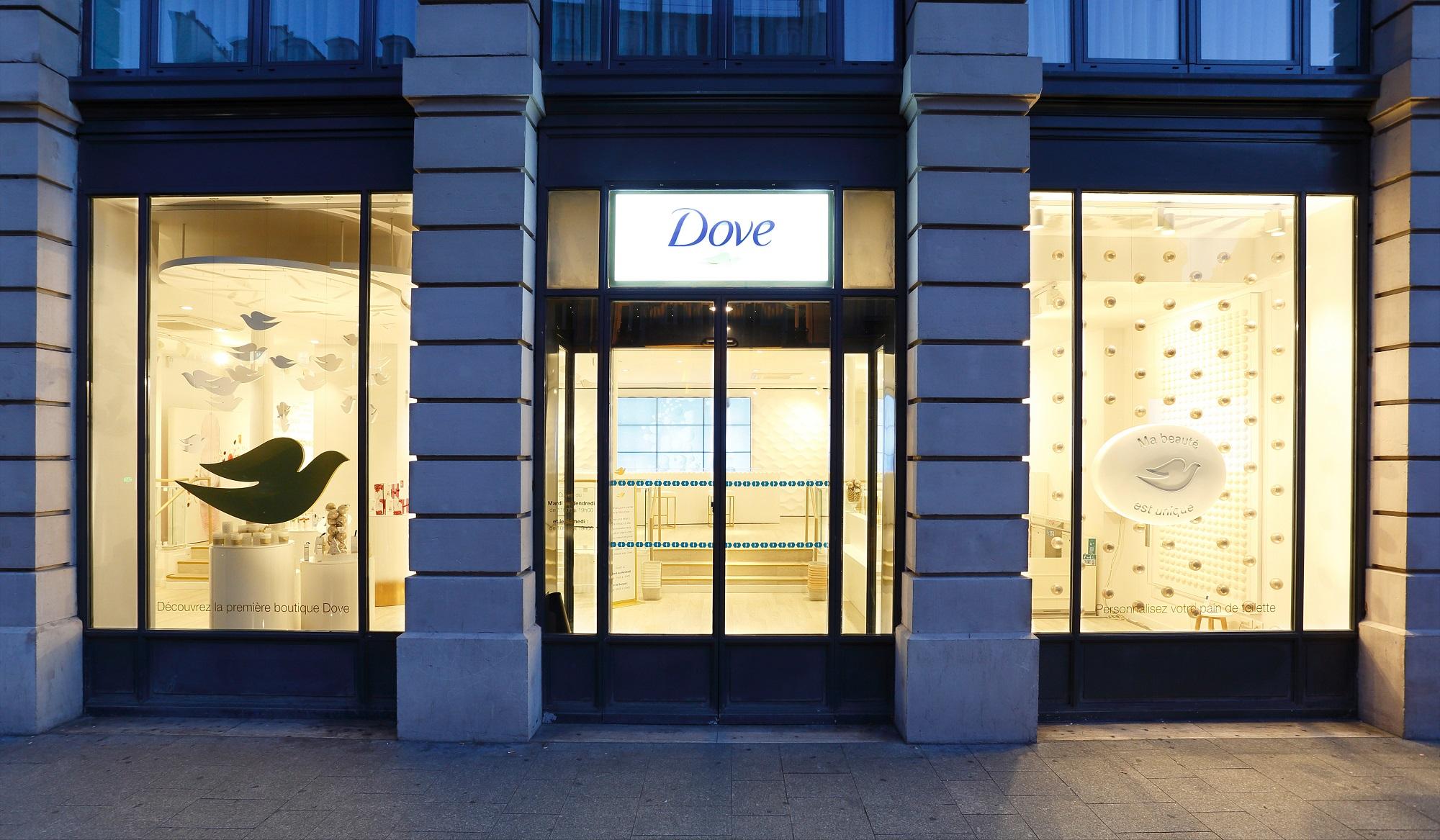 Dove ouvre son premier pop-up store