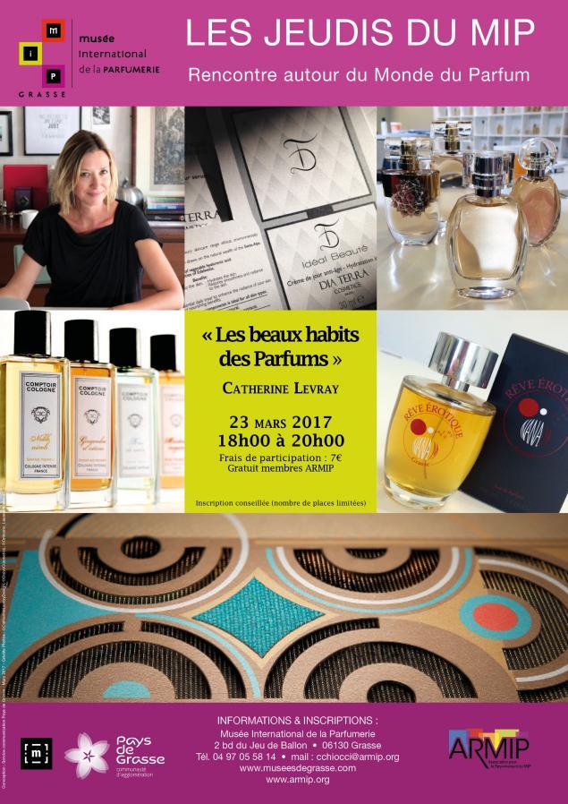 Les beaux habits des parfums, une conférence de Catherine Levray