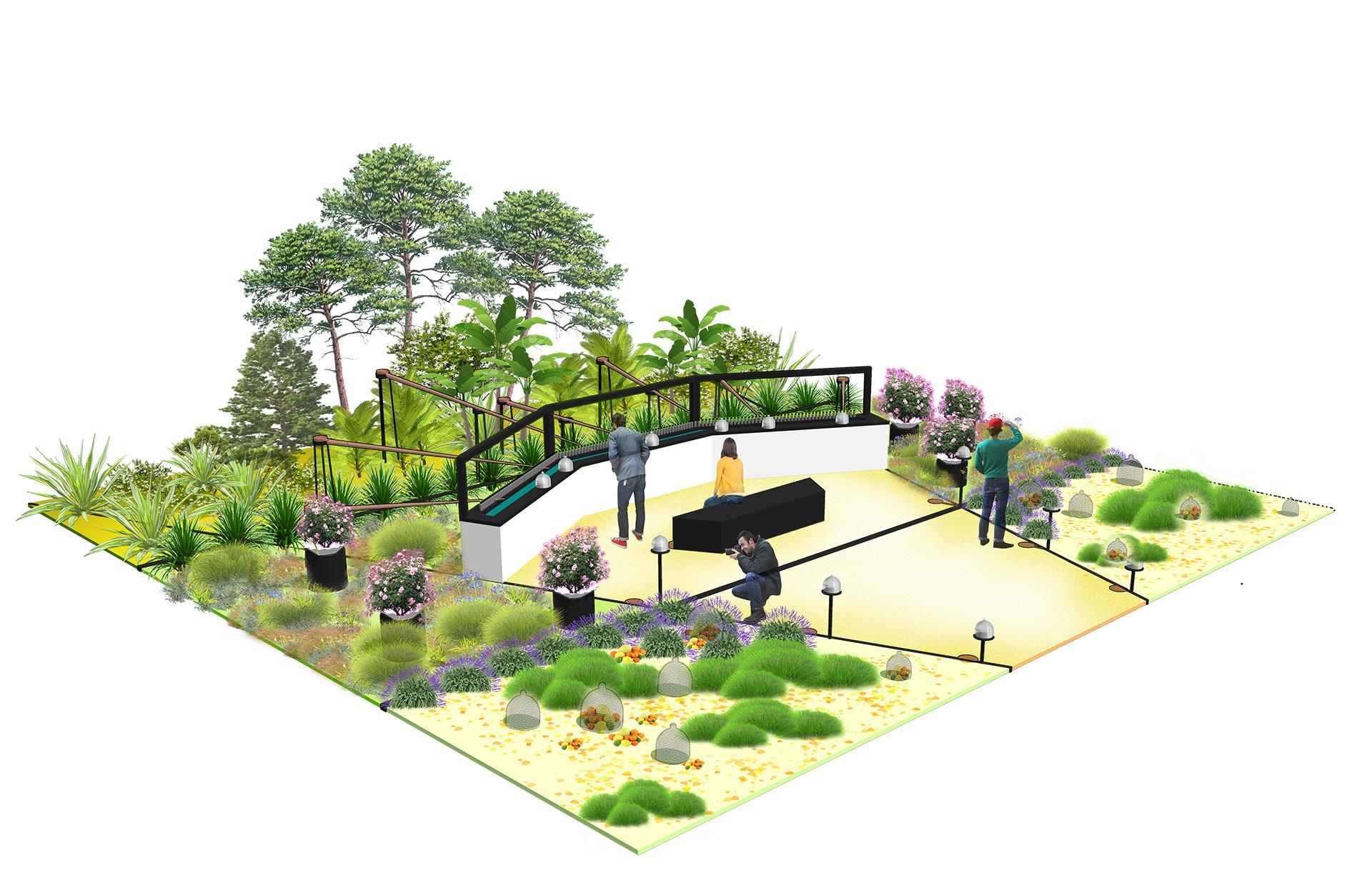 Un jardin parfumé éphémère à Grasse